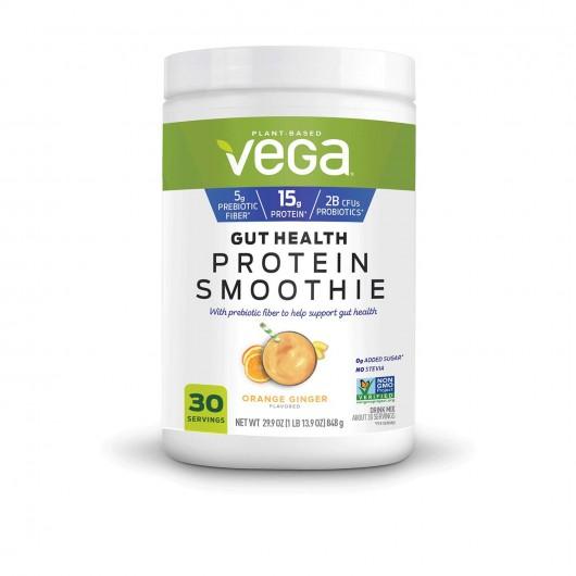 NARAMARKET.ID : Vega Gut Health Protein Smoothie Orange Ginger Flavored Drink Mix Net Wt 848g