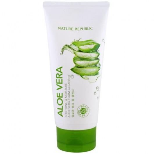Nature Republic Aloe Vera Soothing Moisture Aloe Vera Foam Cleanser