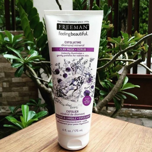 Freeman Feeling Beautiful Exfoliating Diamond Mineral Clay Mask + Scrub