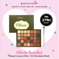 Beauty Bundle Beauty Creations Olivia + elf eyeshadow brush white
