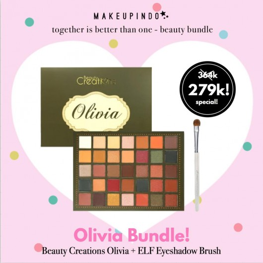 Beauty Bundle Beauty Creations Olivia + elf eyeshadow brush white