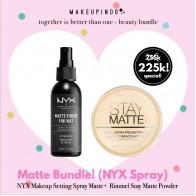 Beauty Bundle NYX Makeup Setting Spray Matte + Rimmel Stay Matte Powder