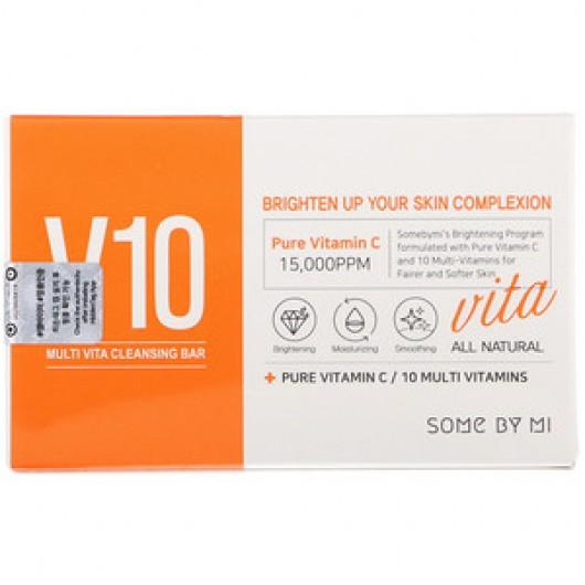 SOME BY MI  V10 Multi Vita Cleansing Bar, 95 g