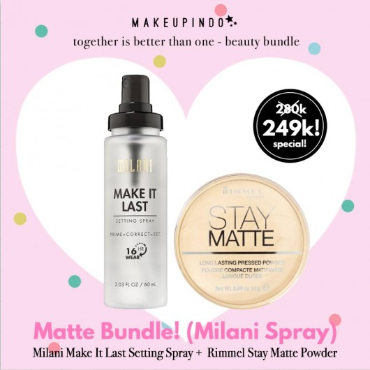 Beauty Bundle Milani Make It Last + Rimmel Stay Matte Powder
