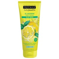 FREEMAN FEELING BEAUTIFUL OIL ABSORBING, MINT & LEMON CLAY MASK