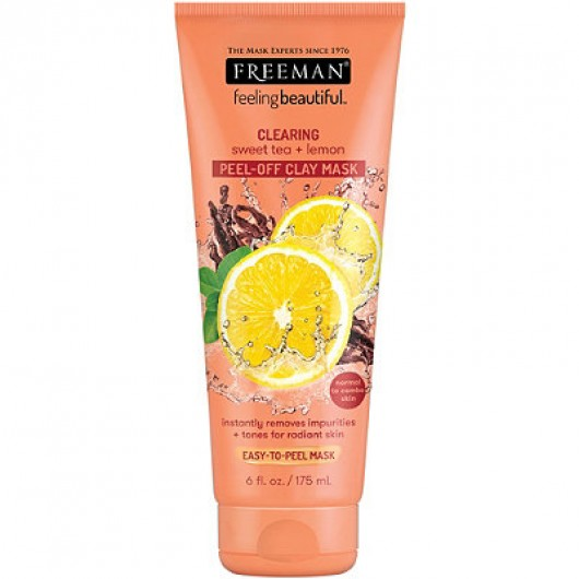 FREEMAN FEELING BEAUTIFUL Sweet Tea & Lemon Peel Away Clay Mask