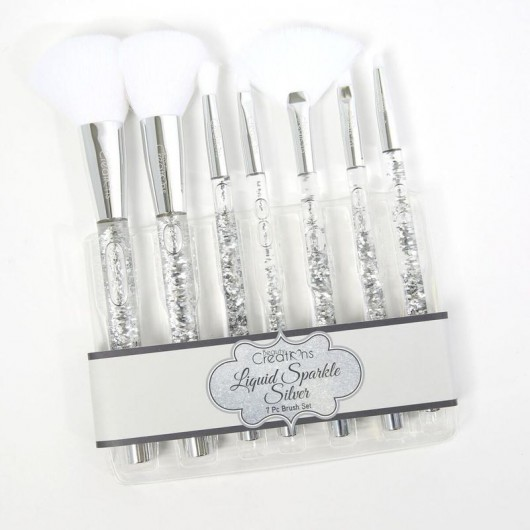 Beauty Creations Liquid Silver Sparkle Brush set